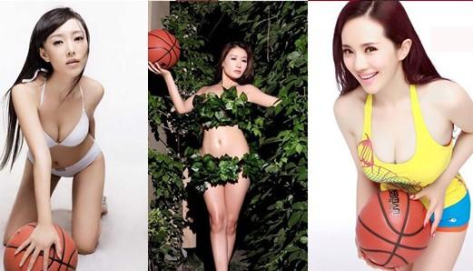 韩一菲朱子岩白莫菲 那些曾做过篮球宝贝的女星