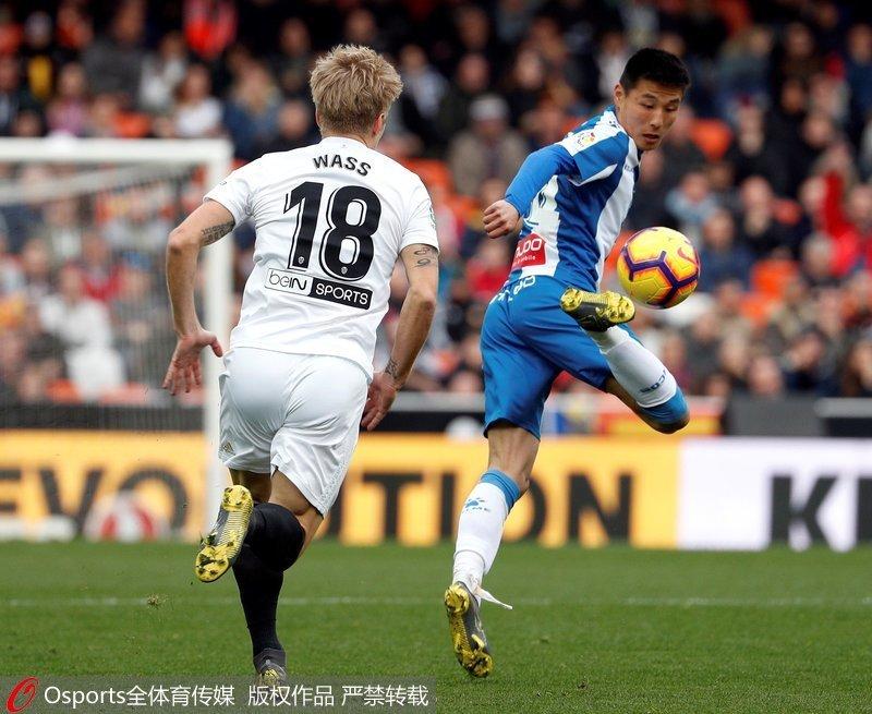 武磊首发出战72分钟 西班牙人0-0客平瓦伦西亚