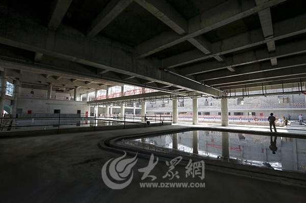 滕州全民健身中心游泳馆建设工程雏形显现